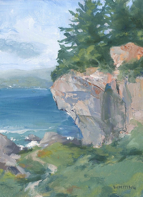 Lynne Whiting Robertson Cliff at Patrick's Point Oil