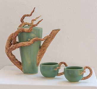 Bonnie Belt, Branch Teapot and Cups