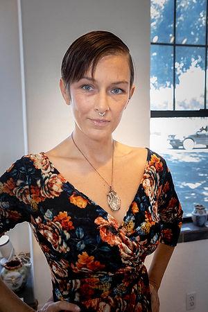 Jessica Clark Dionysus Psilomelane dendrite, and pure copper
