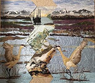 Laura Fogg, Precarious Balance (two-layered quilt)