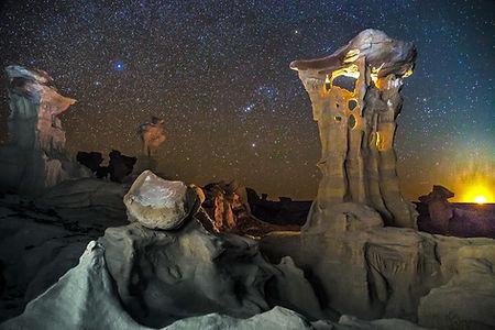 Volkhard Sturzbecher, Alien Throne - Moonset, New Mexico