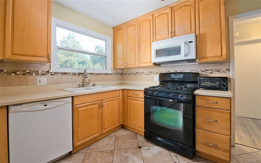 kitchen of northridge smallest home for sale