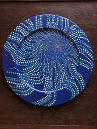 Dotpainted Plate - Sold