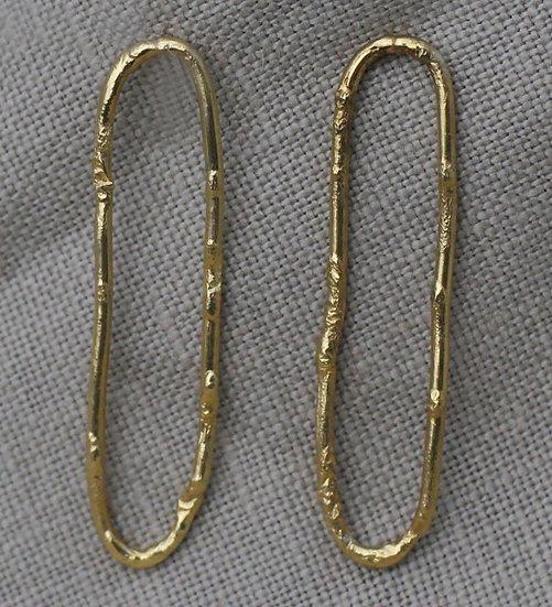 Textured Loop Earrings