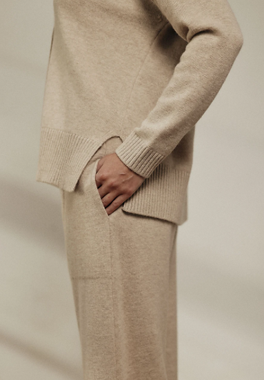 Cashmere + Wool Baggy Pant