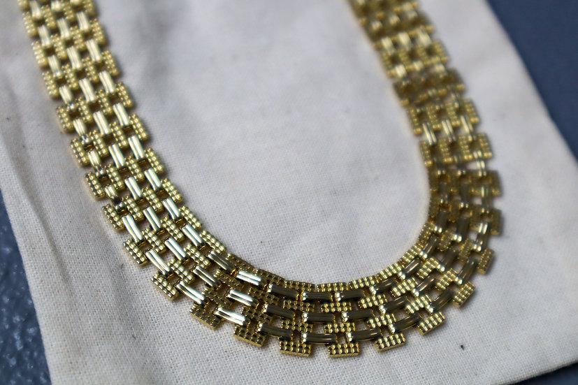 Vintage Gold-plated Mesh Necklace