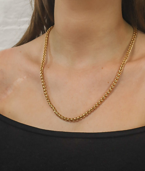 Gold-plated Wheat Chain