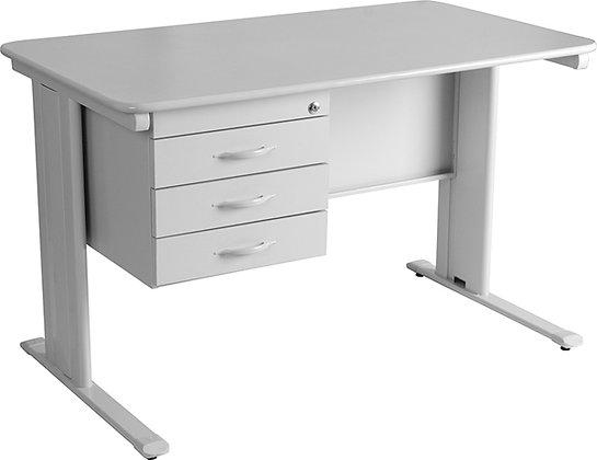 Mesa secretária com 3 gavetas