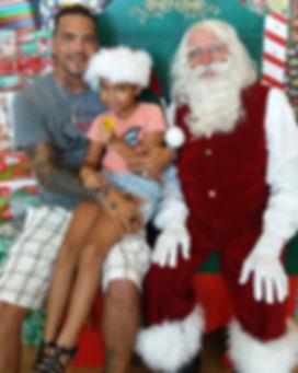BUD  PHOTOS  MAN AND DAUGHTER AND SANTA_