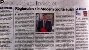 """Nice-Matin- """"Régionales, le MoDem cogite aussi """""""