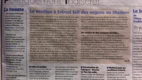 Le Politiquement indiscret de Nice-Matin...des vagues au MoDem !