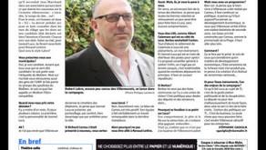 La candidature de Robert Labro à Villeneuve-Loubet dans Nice-Matin