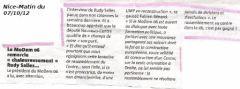 Nice Matin: réaction du MoDem06 aux propos de R Salles