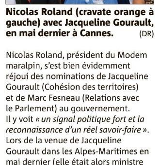 La venue de Jacqueline Gourault à Cannes