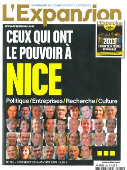 Fabien Bénard cité par l'Expansion dans les personnalités qui comptent à Nice