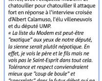 Robert Labro répond à Luca et à l'UDI dans Nice-Matin 23 mars 2013
