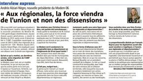 Andrée Alziari-Nègre donne un cap au Modem06.
