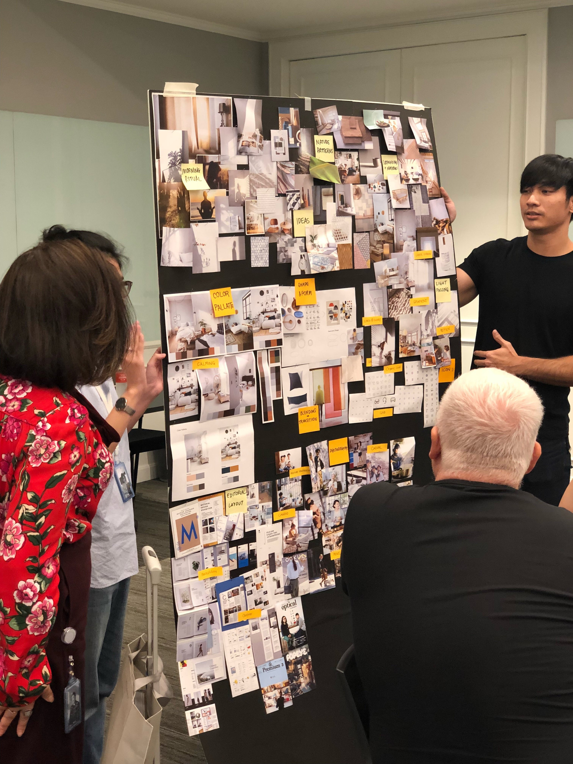 Tim Kobe visiting our offices to learn about our design process