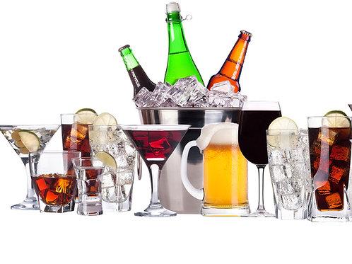 Alcool  (pastis, muscat, martini, whisky,  etc…)3 verres/pers