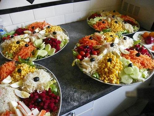 Salade composée avec légumes de saison
