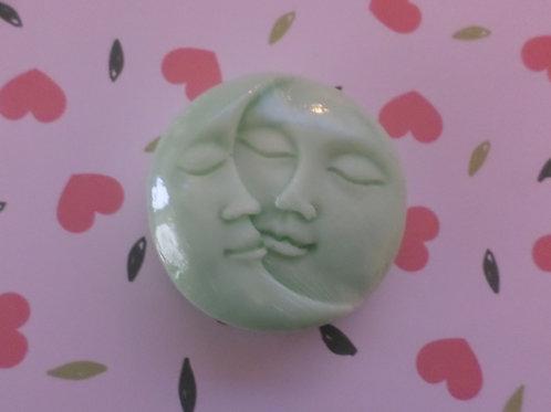 Handmade All Natural Lime Sun & Moon Design Large Soap