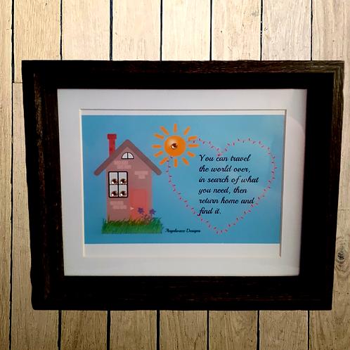 New Framed Original Digital Graphics Unique Home Quote Art Print 1st Edition