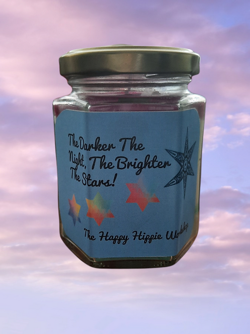 Brighter Stars Rainbow Layered 100% Soy Wax Highly Scented 12oz Jar Candle