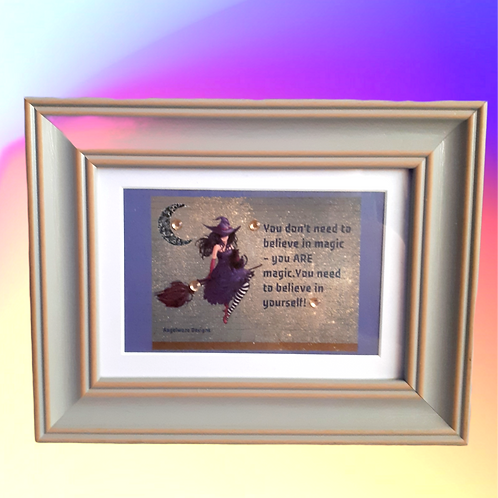 New Framed Original Digital Graphics Unique Magic Quote Art Print 1st Edition