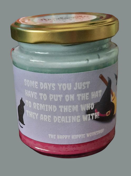Witches Hat Rainbow Layered 100% Soy Wax Highly Scented 12oz Jar Candle