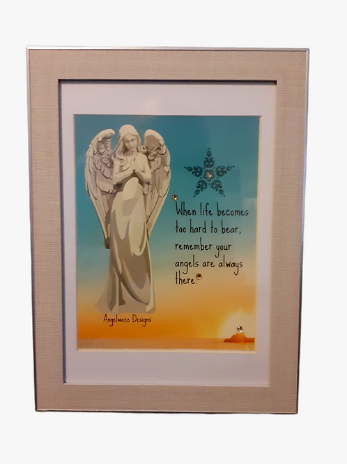 New Framed Original Digital Graphics Unique Angel Art Print 1st Edition