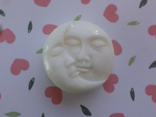 Handmade All Natural Rose Geranium Goats Milk Sun & Moon Design Large Soap