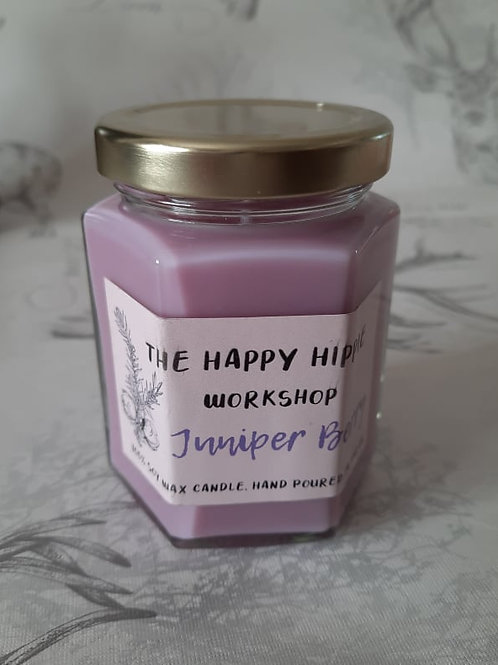 Juniper Berry Handmade Natural 100% Soy Wax Highly Scented 12oz Jar Candle
