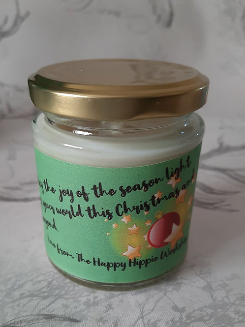 Apple Spice Handmade Natural 100% Soy Wax Highly Scented 12oz Jar Candle
