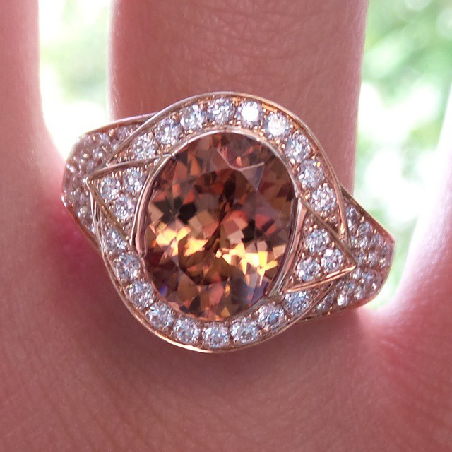 Instagram - Can't get enough #earthtones. Brown #zircon and #diamonds in rose #1
