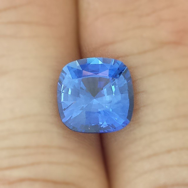 #mondayblues breaker.  4 carat cushion cut #Ceylon #sapphire ready for a new #design.jpg