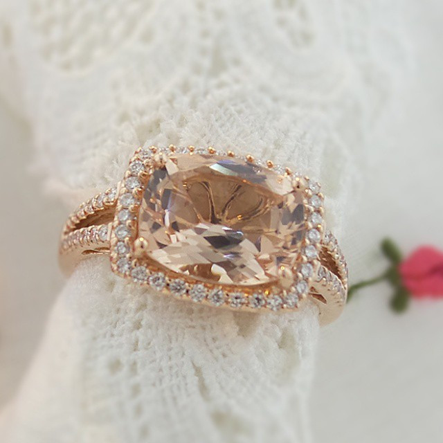 We #love this #style and have made this #ring with many different #gemstones.  Here it is featured with #morganite in #18K #rosegold.jpg