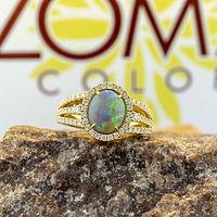 opal, white opal, boulder, black