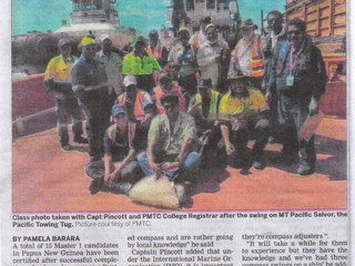 PMTC runs first ever Magnetic Compass Adjuster Course in PNG