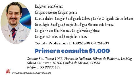 Dr.Javier López/Cirujano Oncólogo