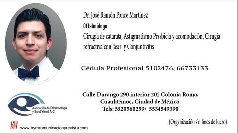 Oftalmólogo José Ramón Ponce