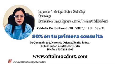 Dra Jennyfer Montoya/Oftalmólogo