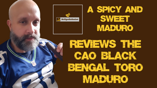MrCigarEnthusiast Reviews The CAO Black Bengal Toro Maduro
