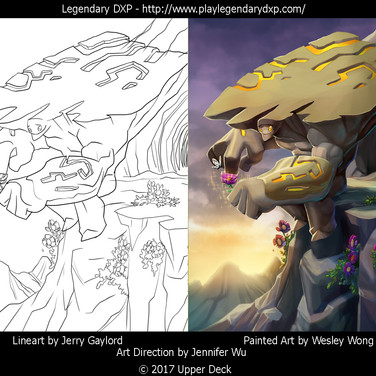 Colors done for the Legendary DXP online card game from Upper Deck. Line art by Jerry Gaylord.
