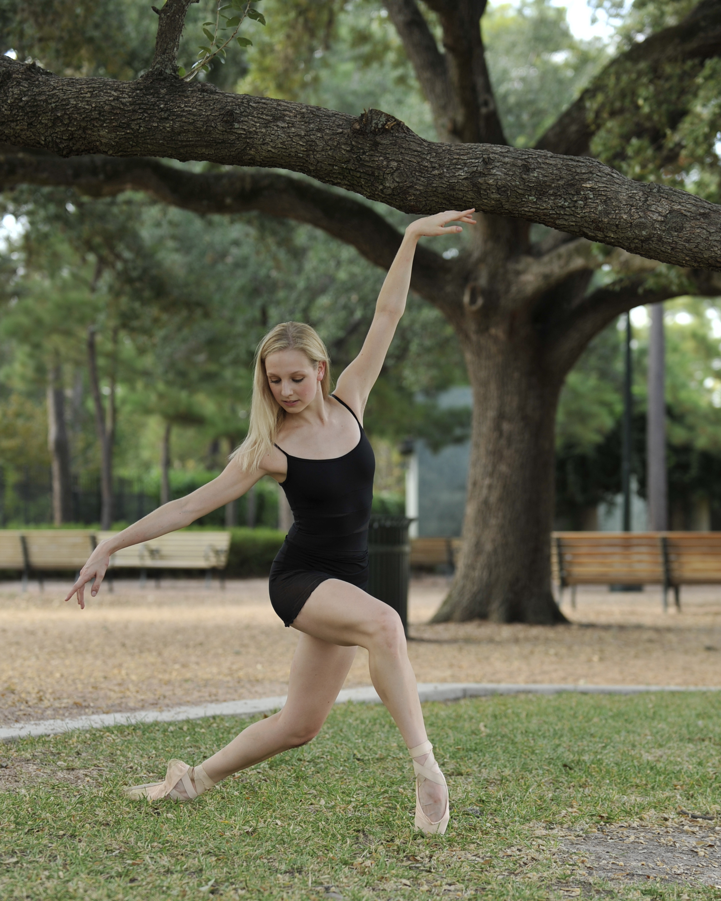 Dancing in Hermann Park