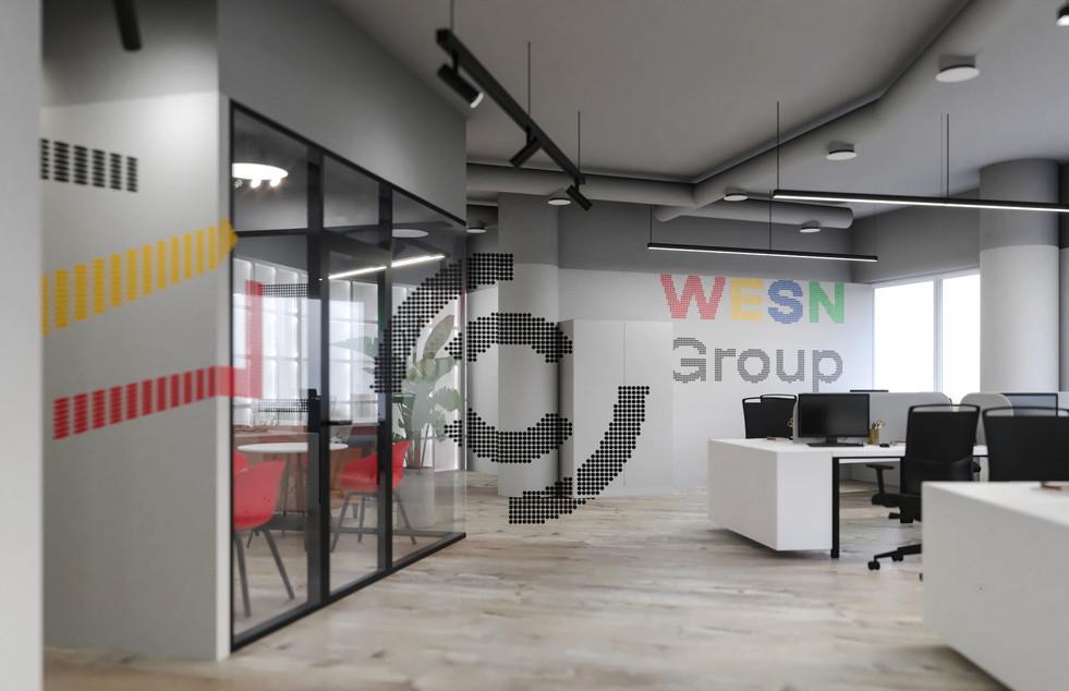 Зона рабочих мест, проекция лого