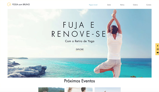 Eventos website templates – Retiro de Yoga
