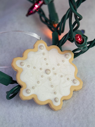 Pearly Snowflake Cookie Ornament