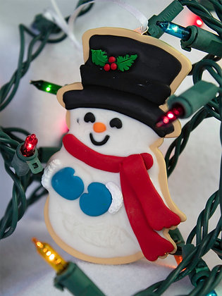 Extra Frosty Snowman Cookie Ornament