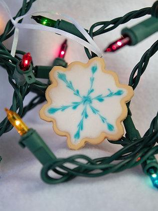 Icy Snowflake Cookie Ornament