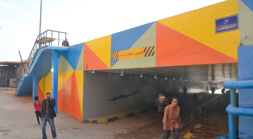 The tunnel after intervention